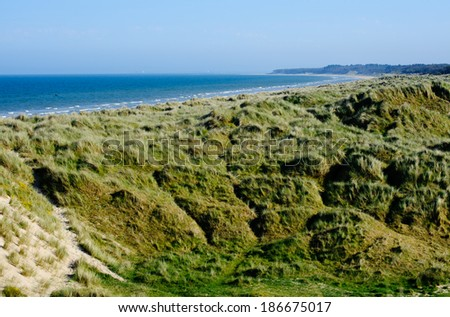 Dune system in Wexford , Ireland  - stock photo