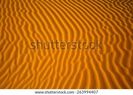 Dune waves in Sahara Desert - stock photo