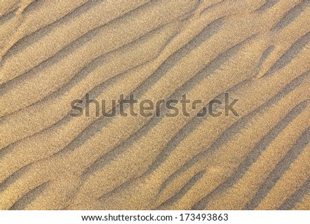 Dunes in the Atacama Desert - Oasis of Huacachina, Peru, South America - stock photo