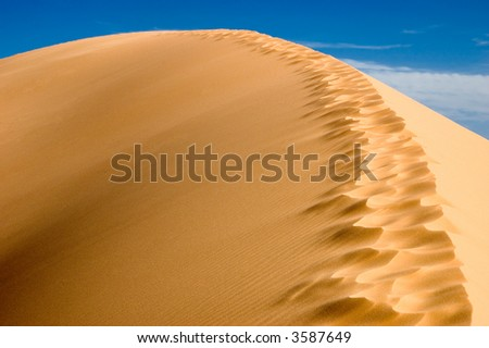 Dunes in the  Coral Pink Sand Dunes State Park. - stock photo