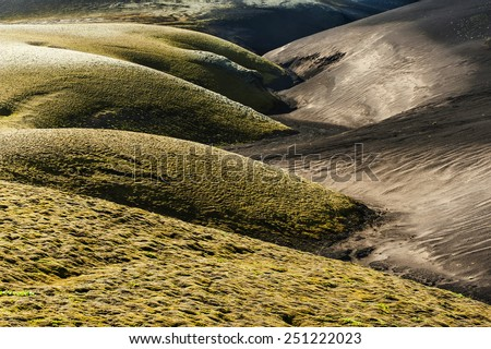 Dunes in the Iceland - stock photo