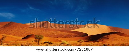 Dunes of Namib Desert. Sossusvlei, Namibia. - stock photo