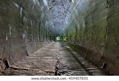 Dungeon, old tunnel. - stock photo