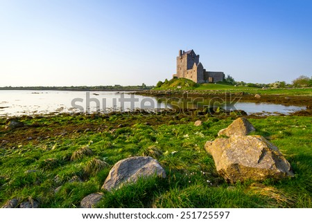 Dunguaire castle in Co. Galway, Ireland - stock photo