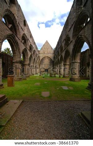 Dunkeld cathedral, Scotland, United Kindom. - stock photo