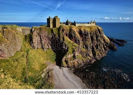 Dunnottar Castle - stock photo