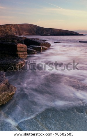 Dunraven Bay, Southerndown, South Wales, UK - stock photo
