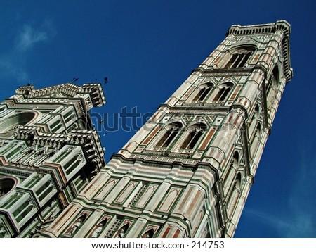 Duomo and Campanile - stock photo
