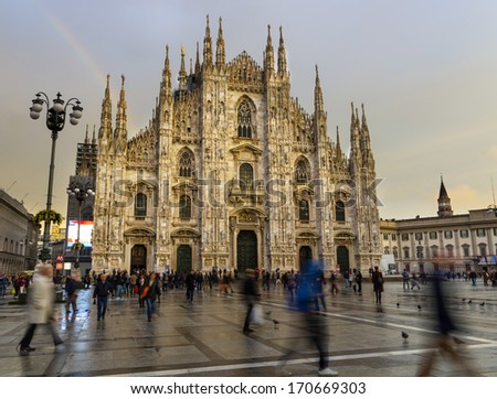 Duomo cathedral in Milan - stock photo