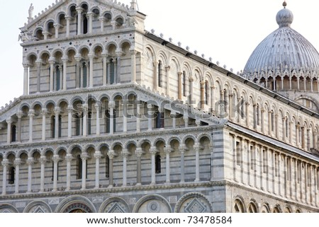 Duomo Cathedral  in Pisa, Tuscany, Italy - stock photo