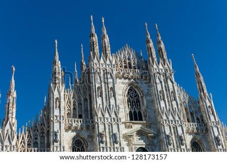 Duomo di Milano (Milan Cathedral), Milan, Italy - stock photo