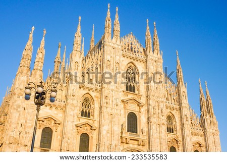 Duomo in Milan, Italy - stock photo