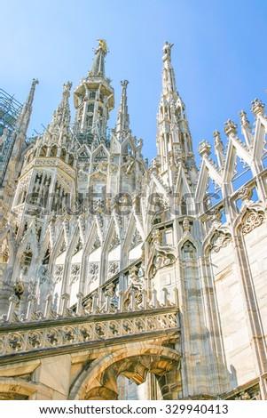 Duomo in Milan, Italy - stock photo