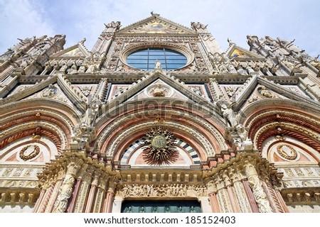 Duomo of Siena, Tuscany, Italy. Siena cathedral - stock photo