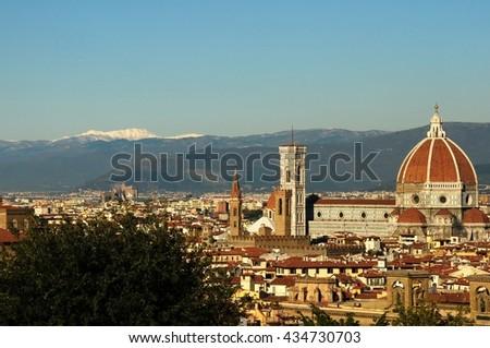 Duomo Santa Maria Del Fiore in Florence, Tuscany, Italy - stock photo