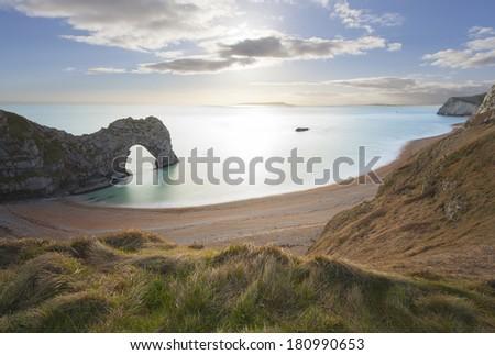 Durdle Door Dorset, Jurassic Coast, UK. - stock photo