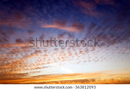 during the dawn sky  - stock photo