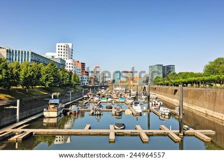 Dusseldorf Media Harbour, North Rhine-Westphalia, Germany - stock photo