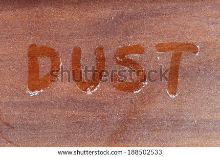 dust layers on the furniture - stock photo