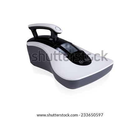 dust mites vacuum cleaner isolated on white - stock photo