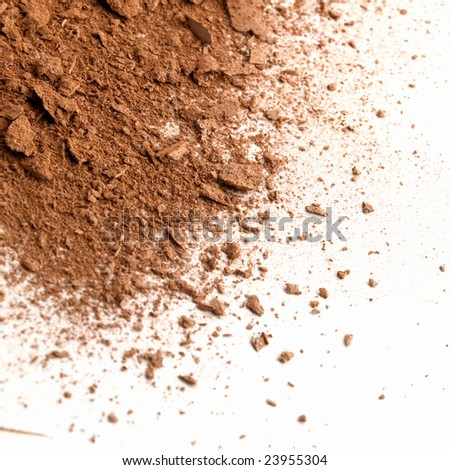 Dust of a make-up face powder - stock photo
