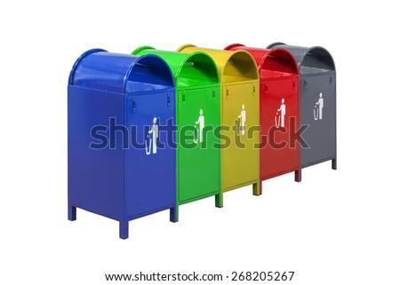 dustbins - stock photo