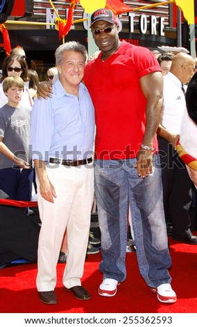 "Dustin Hoffman and Michael Clarke Duncan attend the Los Angeles Premiere of ""Kung Fu Panda"" held at the Grauman's Chinese Theater in Hollywood, California, United States on June 1, 2008.  - stock photo"