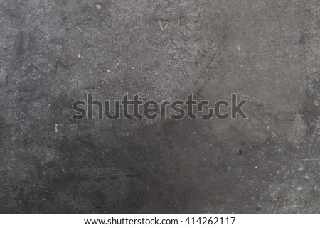 Dusty Dark Grey Slate Background or Texture with Copy Space for Text Decorated. - stock photo