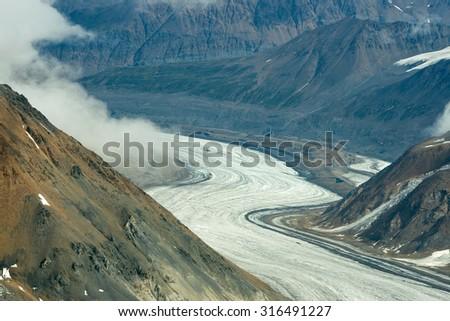 Dusty Glacier in Kluane National Park, Yukon 02 - stock photo