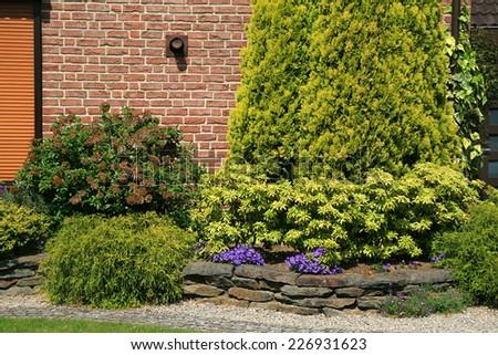 Dutch beautiful garden, - stock photo