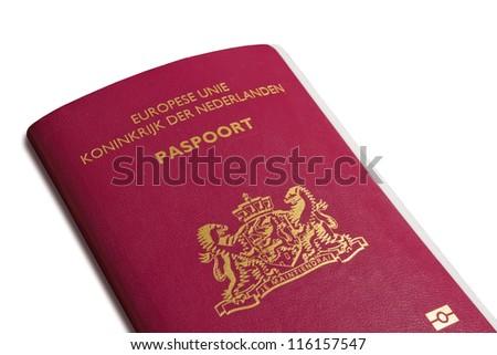 Dutch passport - stock photo