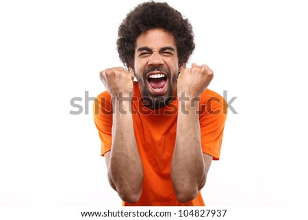 Dutch Soccer fan - stock photo