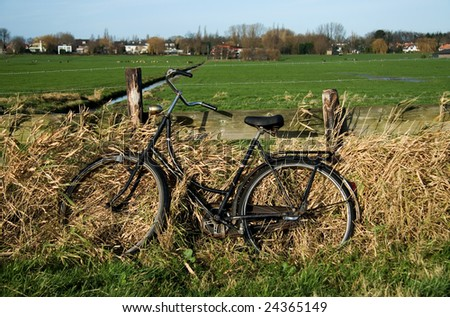 "Dutch vintage bicycle ""Opoefiets"" - stock photo"