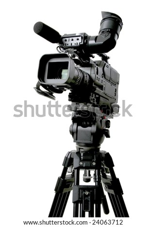 dv-cam camcorder - stock photo