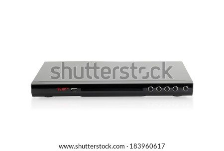 DVD audio player isolated on white background  - stock photo