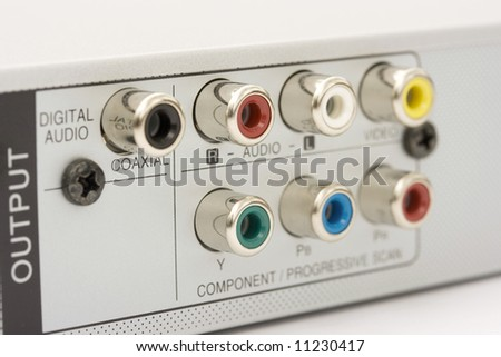 dvd back connectors - stock photo
