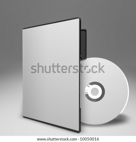 DVD Case and Disc - stock photo