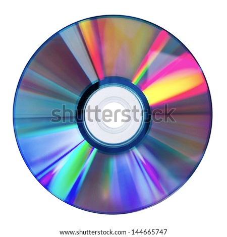 DVD Disk isolated on white - stock photo