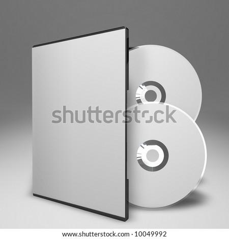 DVD Double Case - stock photo