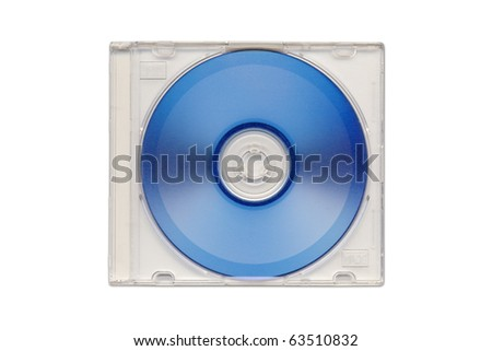 DVD in semi clear plastic case isolated. - stock photo