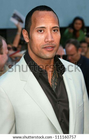 """Dwayne """"The Rock"""" Johnson  at the world premiere of """"The Game Plan"""". El Capitan Theater, Hollywood, CA. 09-23-07 - stock photo"""