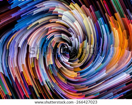 Dynamic Color series. Abstract design made of streams of paint on the subject of forces of nature, art, design and creativity - stock photo
