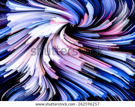 Dynamic Color series. Background design of Colorful fractal clouds and graphic elements on the subject of forces of nature, art, design and creativity - stock photo