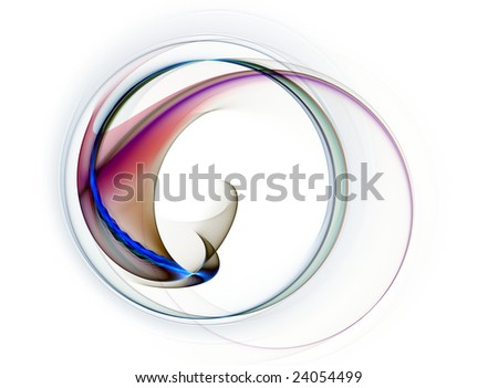 Dynamic, colorful abstract background on white, illustration - stock photo