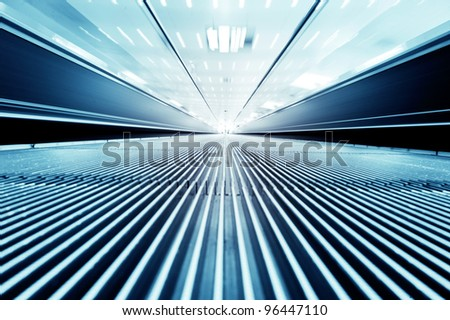dynamic escalator - stock photo