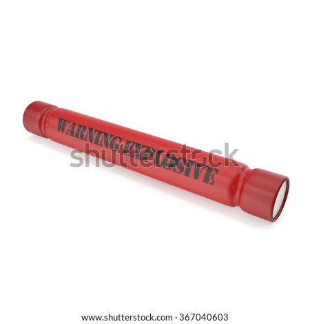 Dynamite bomb isolated on a white background. - stock photo