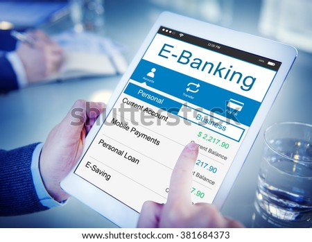 E-Banking Bank Banking Credit Card Finance Money Concept - stock photo