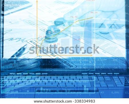 E-banking.Finance image - stock photo