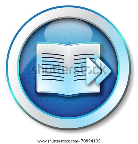 E-book browse forward icon - stock photo