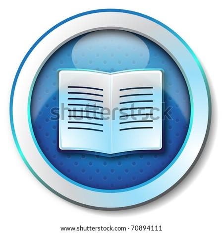E-book icon - stock photo
